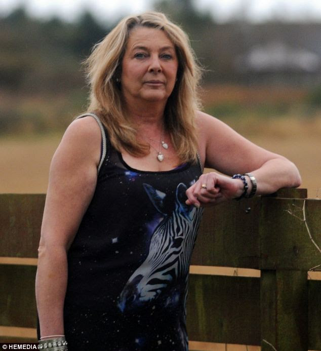 Sighting: Morag Ritchie said she saw the UFO hovering over her house in Fraserburgh, Aberdeenshire for four hours