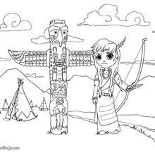 Dibujos Para Colorear Un Totem Indio Eshellokidscom