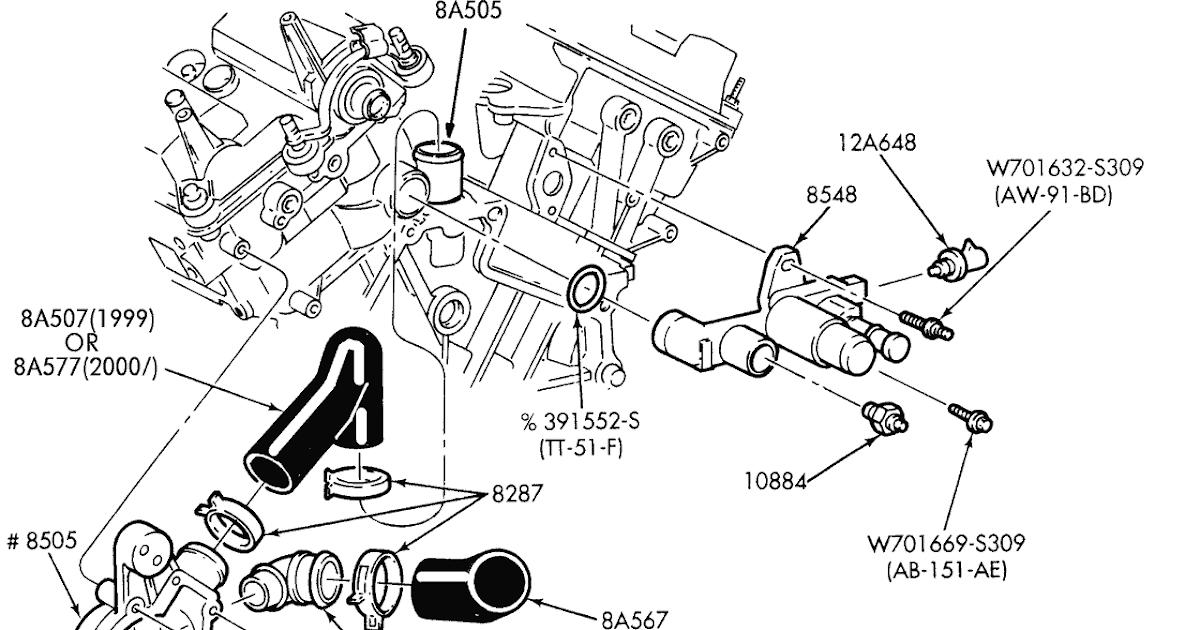 mercury 2 5 v6 engine diagram