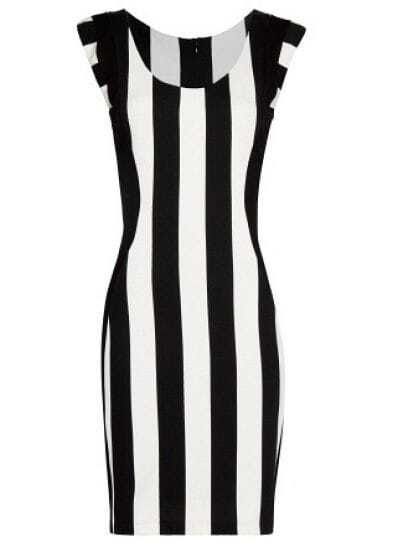 Sun protection black and white striped bodycon dress games smith designers