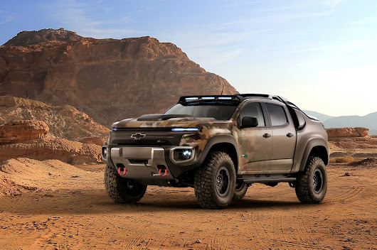 Army to test mean-looking Chevy Colorado ZH2 fuel cell pickup