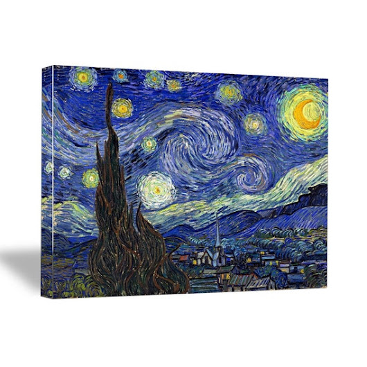 Starry Night By Vincent Van Gogh Stretched Canvas by BestDealDepot