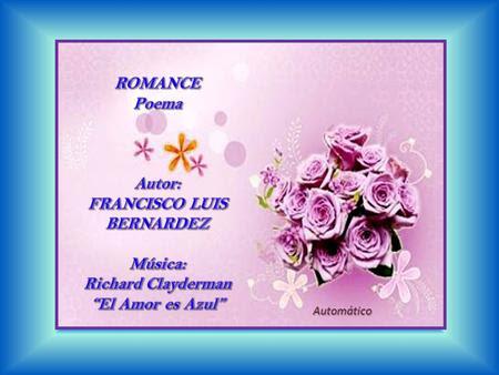 Romance, poema de Francisco Luis Bernardez