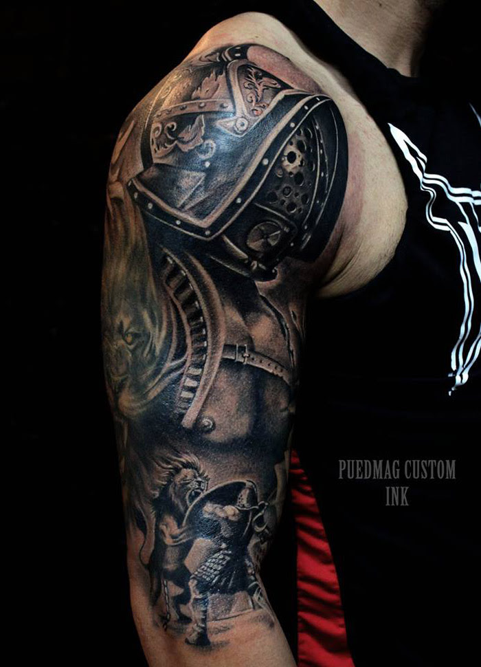 Roman Gladiator Best Tattoo Design Ideas