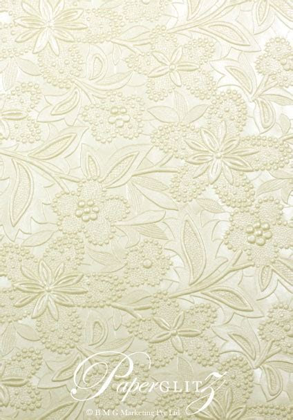 Wholesale Paper   Handmade Embossed Spring Ivory Pearl A4