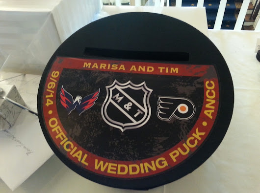 A Capitals (and Flyers) wedding theme