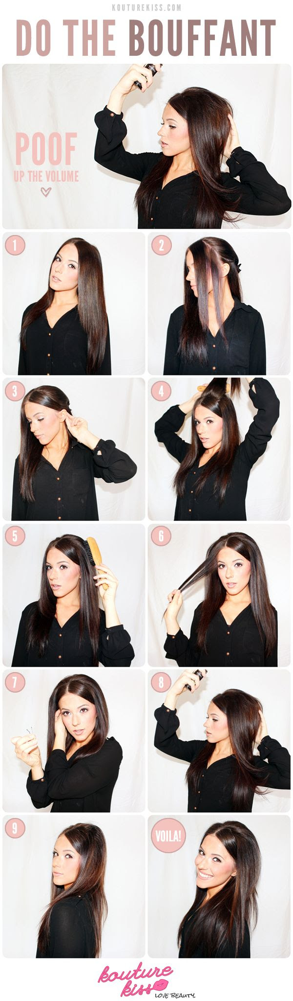 5 Bouffant Hairstyles Tutorials For A Glamorous Look Pretty Designs