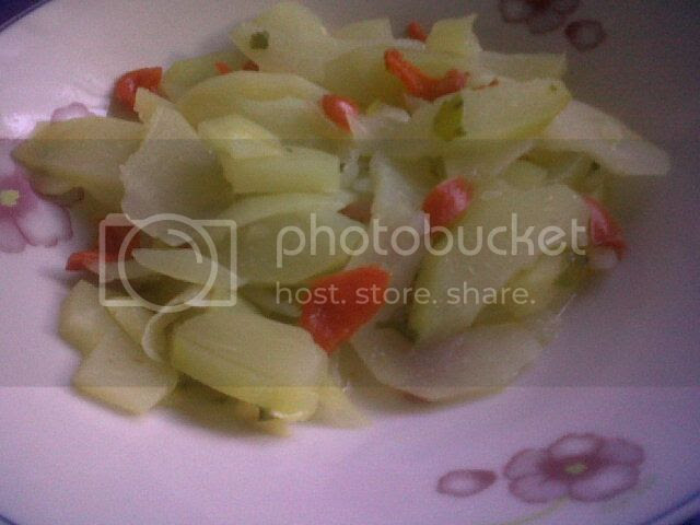 Christophene(Chayote) and Red Bell Pepper Dish