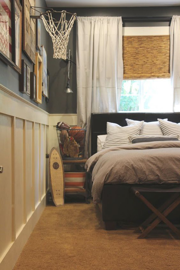 25 Modern Teen Boys' Room With Sport Themes | HomeMydesign