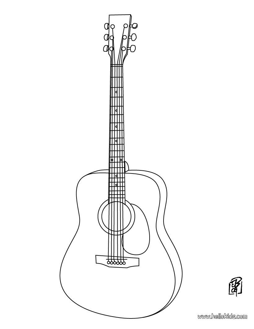 elegant malvorlage gitarre kostenlos  top kostenlos