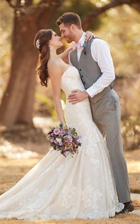 Plus Size Lace Strapless Wedding Dress   Essense of