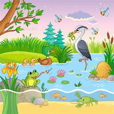 vector set  nature  animals set vector animals