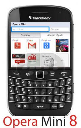 Opera Mini 8 Navegador Para BlackBerry OS 5.0 - 7.1 - Todo BlackBerry Gratuito