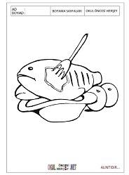 Balık Yemeği Boyama Sayfaları