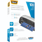 """Fellowes Glossy laminating pouches, 8.5"""" x 11"""", Clear - 100-pack"""