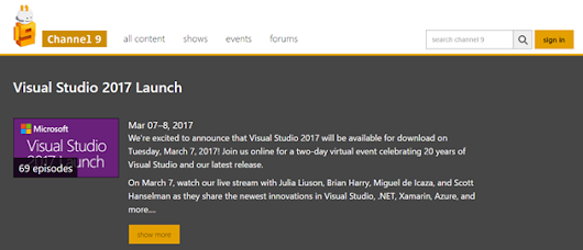 Visual Studio 2017 Resources
