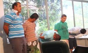 Airton, Leandro Campos, Leonardo, Felipe e Junior são os quadrilheiros presos.
