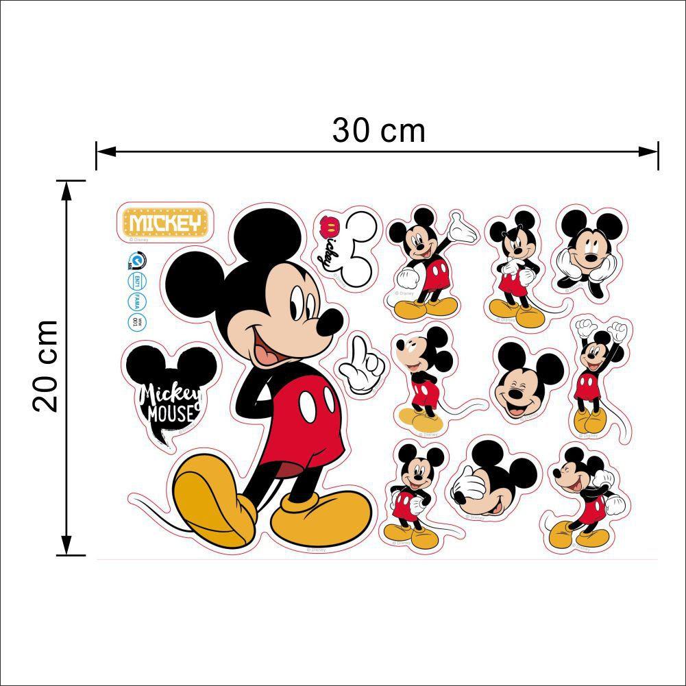 リムーバブル漫画の塩ビ壁紙の寝室の装飾ミッキーマウス壁の装飾