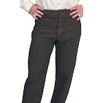 Scully Western Pants Mens Old West Stripe Button Fly Cotton 592402