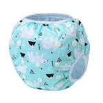 Leakproof Washable Reusable Swim Diapers For Kids 0 to 2 Years, One Size / Blue / Polar Bear from Gifts Are Blue