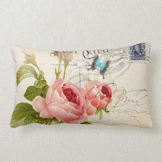 "Rose (4) Lumbar 13"" x 21"" Pillow"