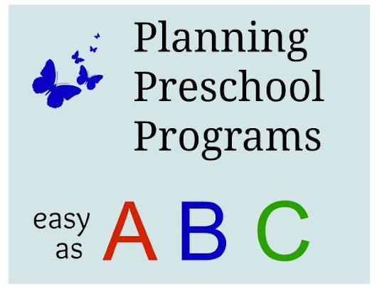 Easy Way to Plan Preschool Programs