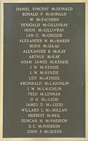 JAMES D. MacLEOD. WILLARD L. MacMILLAN · HERBERT McNEIL. DUNCAN H. McPHERSON
