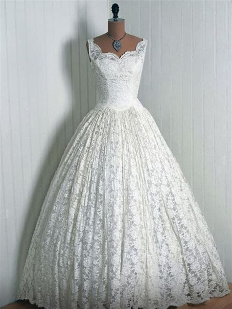Beautiful 1950's Wedding Dress   My Style   Pinterest