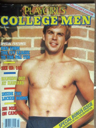PLAYGIRLS COLLEGE MEN, July 1981 rare issue, packed with