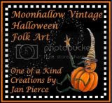 Halloween Art by Jan Pierce Moonhallow Vintage