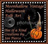 Halloween Art by Jan Pierce Moonhallow Vintage