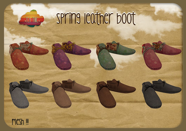 SPRING LEATHER BOOT *Tea Time*!!!! NEWWWW!!!!