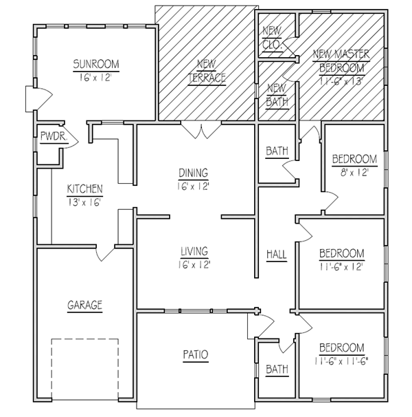 Home Additions Plan Drawings: New Home Addition Floor Plans (+10) Solution