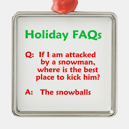 Funny Snowman Joke Holiday Novelty Ornament
