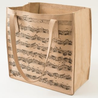 Bach Cello Suite Original Handwritten Score Tote