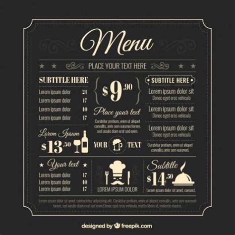 50 Free Food & Restaurant Menu Templates   XDesigns