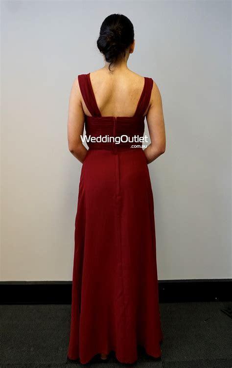 Burgundy Maroon Bridesmaid Dress #AFA101   WeddingOutlet