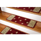 Dean Tape Free Pet Friendly Premium Carpet Stair Treads - Regal Red - 13 Pack