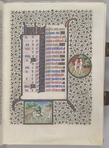 Calendar showing first part of May with monthly occupation and zodiac sign. (HM 1100)