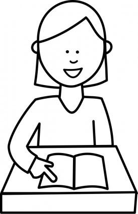 Lve Lisant Siswa Membaca Vektor Clip Art Vektor Gratis Download Gratis