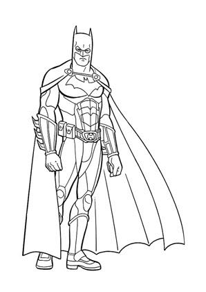 Ausmalbilder Batman Calendar June