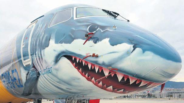Köpekbalığı Boyamalı Uçak Sabiha Gökçende Haberler Son Dakika