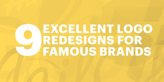 9 excellent logo redesigns for famous brands