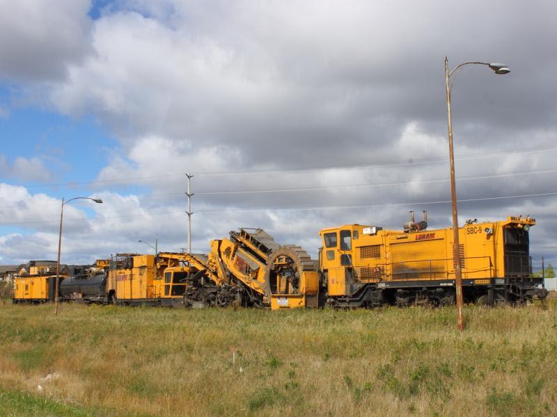 Loram ballast cleaner in Winnipeg