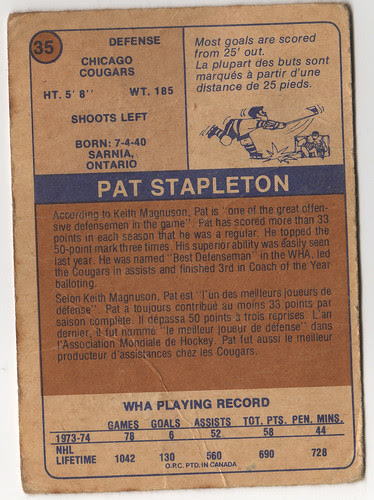 Pat Stapleton back