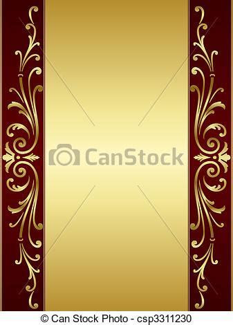 Vintage scroll background in red go. Elegant and stylish