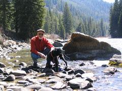 Tim & Sam in the Gallatin River in April