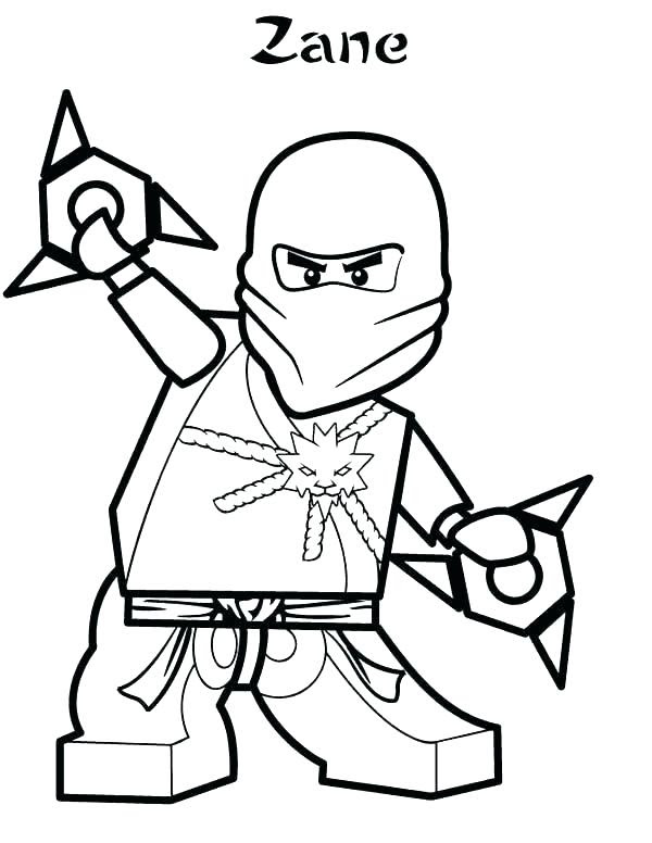 Lego Ninjago Zane Ausmalbilder
