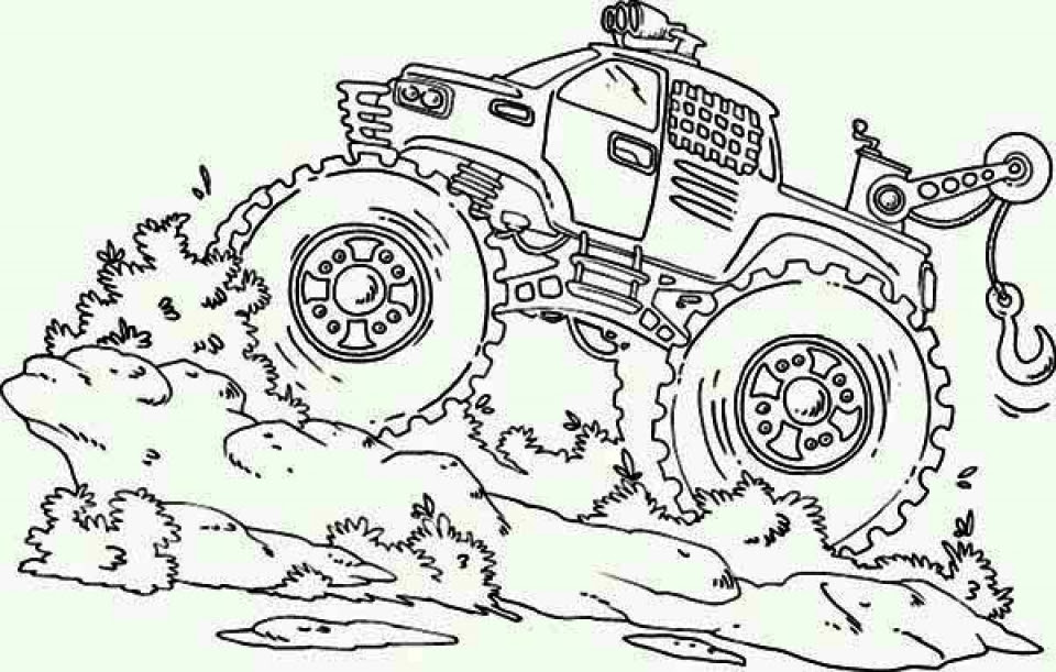 Get This Free Monster Truck Coloring Pages to Print 67344