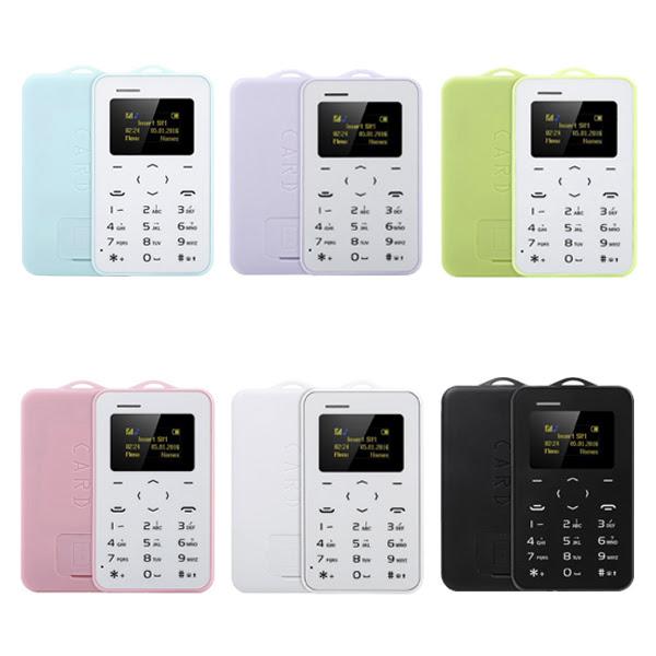 Telefono AIEK C6 ultra sottile Mini GSM Bluetooth di colore della caramella della carta di credito mobile